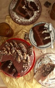 Chocolate Buttercrunch Cake