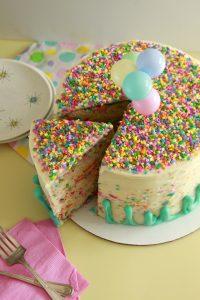 Rainbow Chip Funfetti Layer Cake