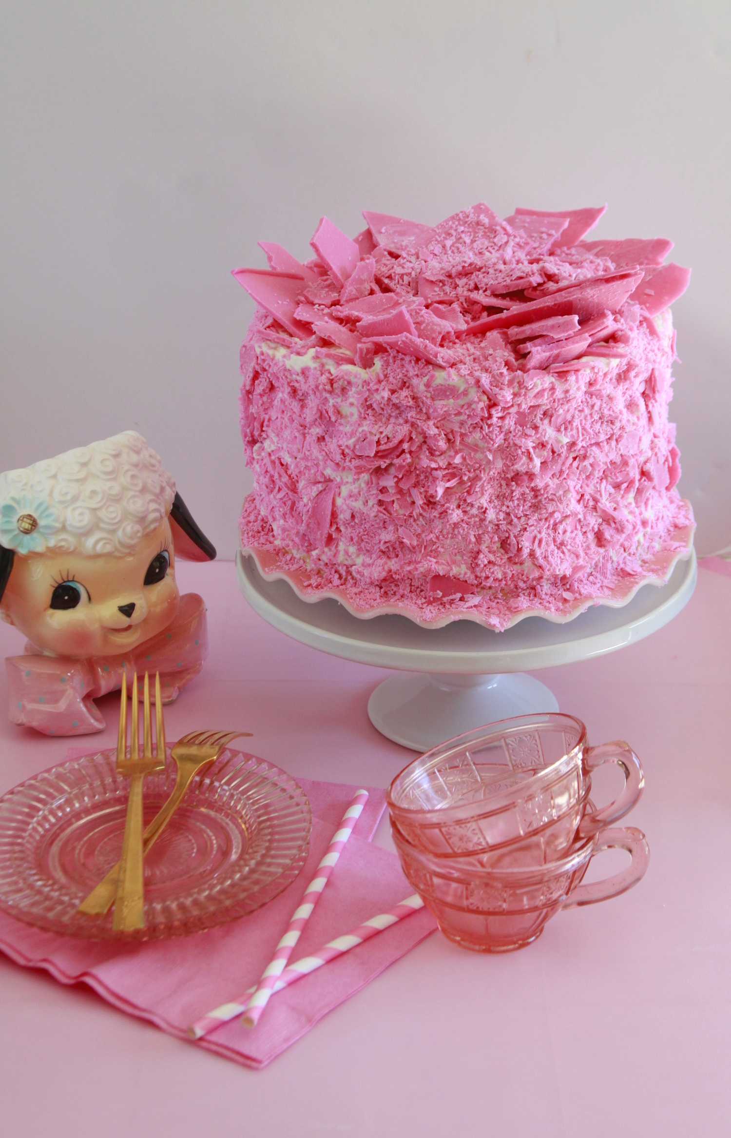 Pink Champagne Cake Recipe Bavarian Cream