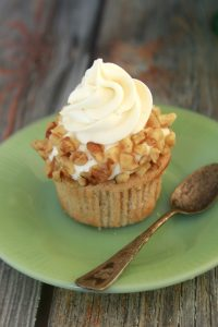 Apple Cider Cupcakes with Goat Cheese Frosting