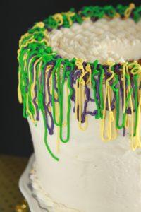 Mardi Gras Party Cake