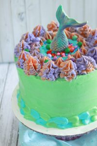 Blue Raspberry Mermaid Cake