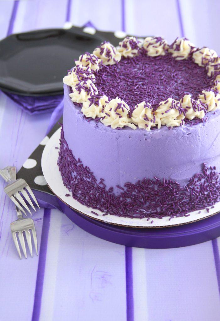 Purple Sweet Potato Cake Layer Cake Parade