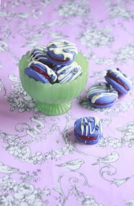 Violet Cassis Macarons