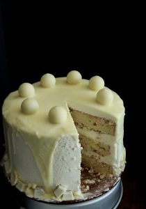 White Chocolate Candy Cake