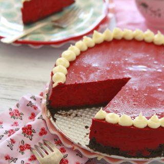 New York Style Red Velvet Cheesecake