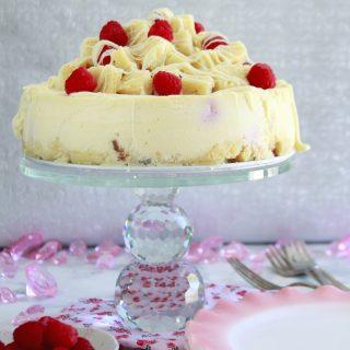 Raspberry Charlotte Cheesecake