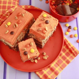 Loaded Peanut Candy Brownies