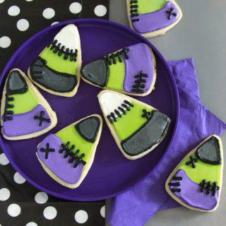 Frankenstein Candy Corn Cookies